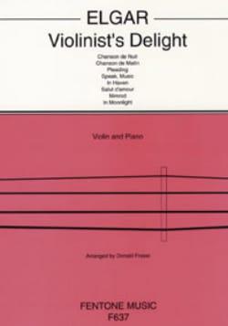ELGAR - Violinist's delight - Partition - di-arezzo.fr
