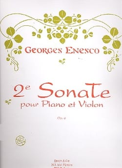 Georges Enesco - Sonate Violon n° 2 op. 6 - Partition - di-arezzo.fr