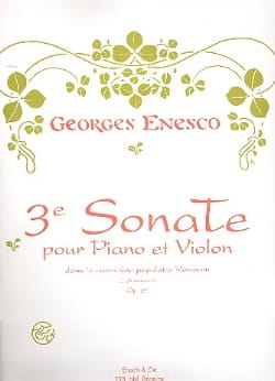 Sonate n° 3 op. 25 - Georges Enesco - Partition - laflutedepan.com