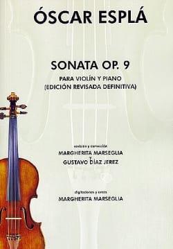 Sonata op. 9 - Oscar Espla - Partition - Violon - laflutedepan.com