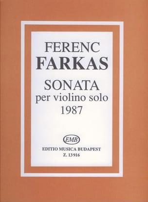 Ferenc Farkas - Sonata - Partition - di-arezzo.fr