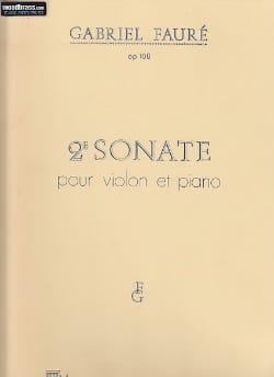 Gabriel Fauré - Sonate n° 2 op. 108 - Partition - di-arezzo.fr