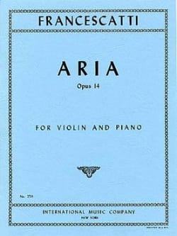 Zino Francescatti - Aria op. 14 - Partition - di-arezzo.fr