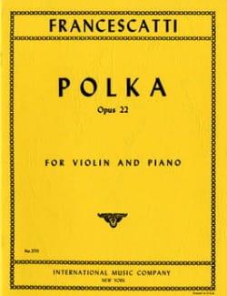 Zino Francescatti - Polka op. 22 - Partition - di-arezzo.fr
