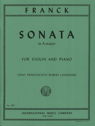 César Franck - Sonata in A major - Violin - Sheet Music - di-arezzo.com