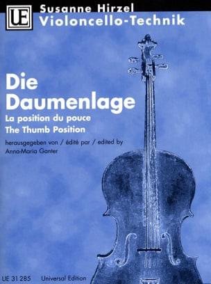 Die Daumenlage Violoncello Technik - Suzanne Hirzel - laflutedepan.com