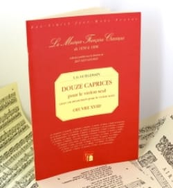 Louis-Gabriel Guillemain - 12 Caprices, Oeuvre 18 – Fac similé - Partition - di-arezzo.fr