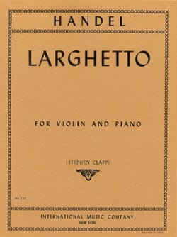 Larghetto - Violon - HAENDEL - Partition - Violon - laflutedepan.com
