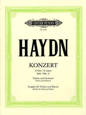 HAYDN - Violin Concerto in G major Hob. 7a: 4 - Sheet Music - di-arezzo.co.uk