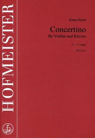 Klaus Hertel - Concertino - Partition - di-arezzo.fr