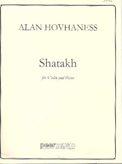 Alan Hovhaness - Shatakh - Partition - di-arezzo.fr