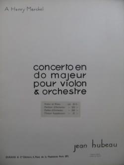 Concerto pour Violon en DO Majeur Jean Hubeau Partition laflutedepan