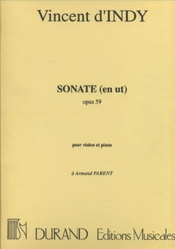 Indy Vincent D' - Sonate en ut op. 59 - Partition - di-arezzo.fr