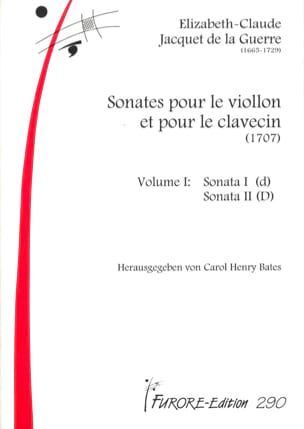 de la Guerre Elisabeth Jacquet - Sonates Pour Violon et Clavecin Volume 1 (1707) - Partition - di-arezzo.fr