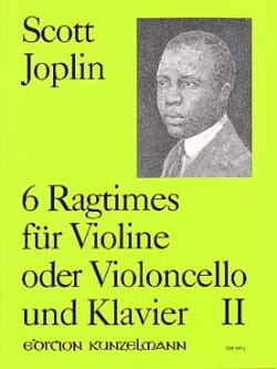 Scott Joplin - 6 Ragtimes, Volume 2 - Partition - di-arezzo.fr