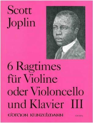 Scott Joplin - 6 Ragtimes, Volume 3 - Sheet Music - di-arezzo.com