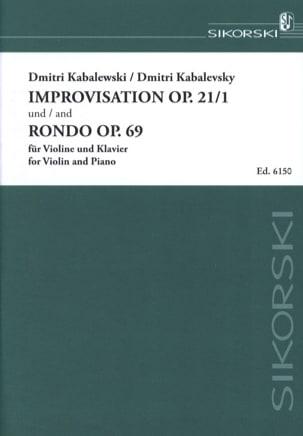 Dimitri Kabalevski - Improvisation op. 21 No. 1 / Rondo op. 69 - Sheet Music - di-arezzo.com