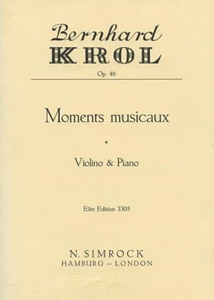 Bernhard Krol - Musical moments op. 46 - Sheet Music - di-arezzo.com