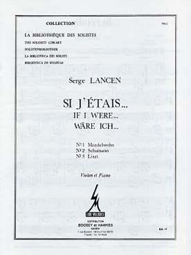 Si j'étais... n° 1, 2 et 3 - Violon - Serge Lancen - laflutedepan.com