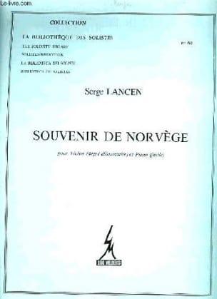 Souvenir de Norvège Serge Lancen Partition Violon - laflutedepan