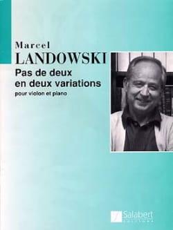 Marcel Landowski - Pas de deux en deux variations - Partition - di-arezzo.fr