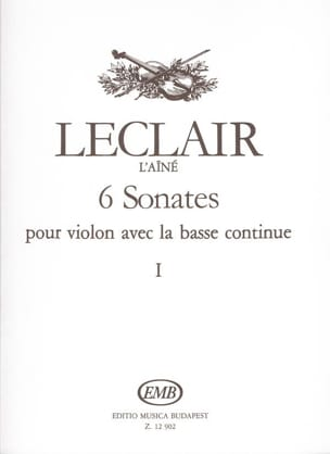 6 Sonates Volume 1 - LECLAIR - Partition - Violon - laflutedepan.com