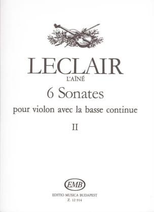 Jean-Marie Leclair - 6 Sonatas Volume 2 - Sheet Music - di-arezzo.co.uk