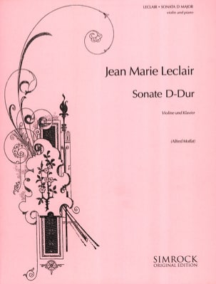 Jean-Marie Leclair - Sonata D-Dur - Sheet Music - di-arezzo.co.uk