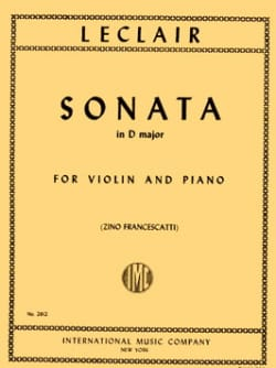 Sonata in D major LECLAIR Partition Violon - laflutedepan
