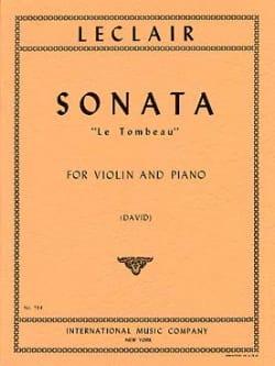 Jean-Marie Leclair - Sonate Le Tombeau – Violon - Partition - di-arezzo.fr