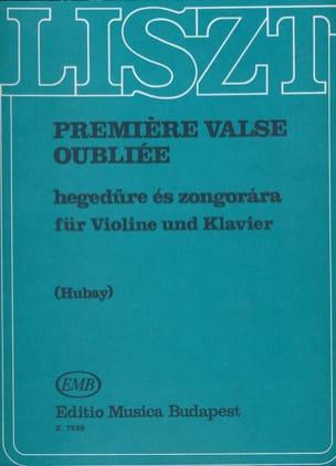 Franz Liszt - Première valse oubliée - Partition - di-arezzo.fr