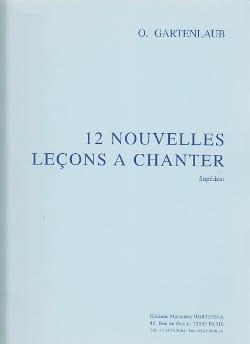 Odette Gartenlaub - 12 Nouvelles leçons à chanter - Partition - di-arezzo.fr