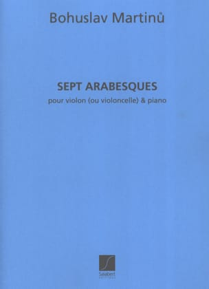 Bohuslav Martinu - 7 Arabesques - Sheet Music - di-arezzo.co.uk