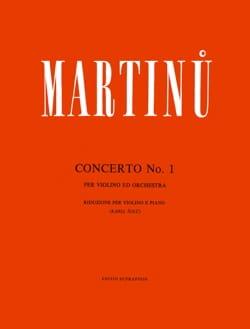Bohuslav Martinu - 協奏曲第1番 - ヴァイオリン - 楽譜 - di-arezzo.jp