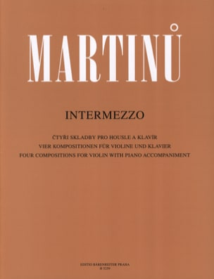 Bohuslav Martinu - Intermezzo - Sheet Music - di-arezzo.co.uk