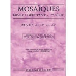 Jean-Michel Bardez - Mosaics Beginner 1st Series - Floor Key With Acct - Sheet Music - di-arezzo.co.uk