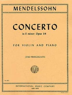 MENDELSSOHN - Violin Concerto op. 64 E minor - Sheet Music - di-arezzo.com