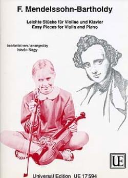 MENDELSSOHN - Leichte Stücke für Violine und Klavier - Partition - di-arezzo.fr