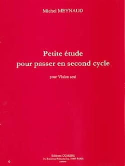 Michel Meynaud - Small study to go to the second cycle - Sheet Music - di-arezzo.com