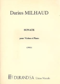 Sonate 1911 - Violon MILHAUD Partition Violon - laflutedepan