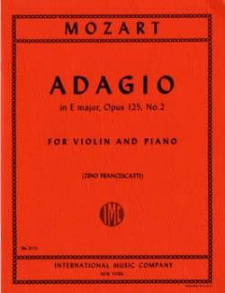 MOZART - Adagio E maggiore, op. 125 n ° 2, KV 261 - Partitura - di-arezzo.it
