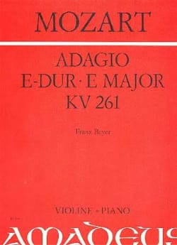 Adagio E-dur KV 261 - MOZART - Partition - Violon - laflutedepan.com