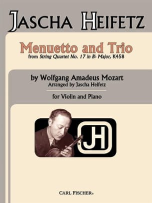 Mozart Wolfgang Amadeus / Heifetz Jascha - Menuetto - Partition - di-arezzo.fr