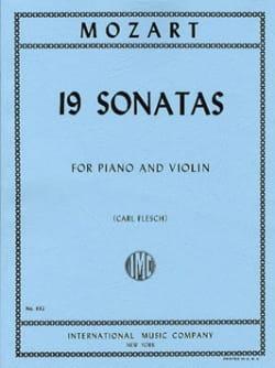 19 Sonatas Flesch -Violin piano - MOZART - laflutedepan.com
