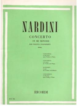 Concerto Violon mi mineur - Pietro Nardini - laflutedepan.com