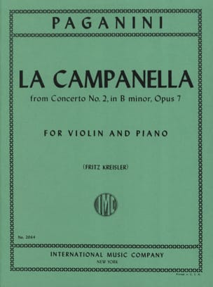 Niccolò Paganini - The Campanella Kreisler - Sheet Music - di-arezzo.co.uk