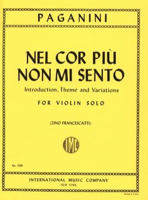 Niccolò Paganini - Nel cor piu non mi sento - Partition - di-arezzo.fr