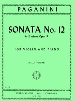 Sonata n° 12 in E minor, op. 3 - Niccolò Paganini - laflutedepan.com