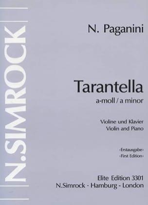 Niccolò Paganini - Tarantella a-moll - Partition - di-arezzo.fr