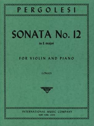 Giovanni Battista Pergolesi - Sonata No. 12 in E major Longo - Sheet Music - di-arezzo.com